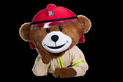 Bildet viser brannbamsen Bjørnis
