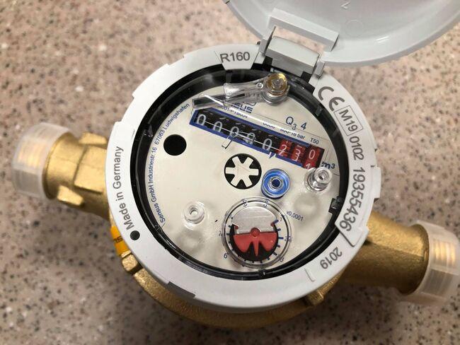 Bildet viser en vannmåler