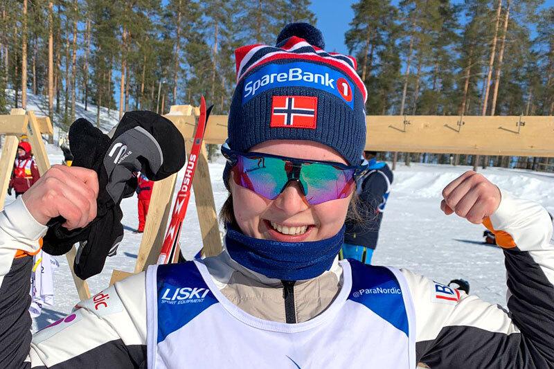 Vilde Nilsen med seier under verdenscupen i Vuokatti 2021. Foto: Norges Skiforbund.
