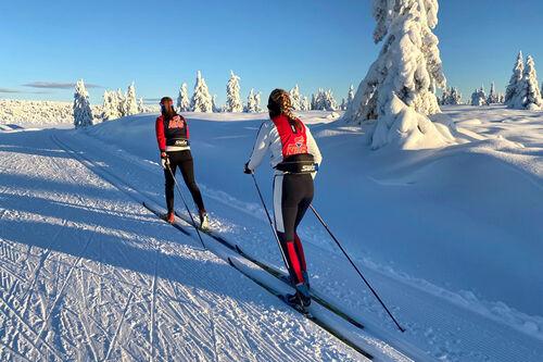 Kort vei til områder med mye snø for skiløpere ved NTG Lillehammer. Foto: NTG Lillehammer.