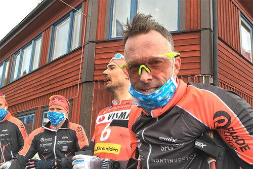 Anders Aukland rett etter målgang i det 100 km lange Årefjällsloppet 2021. Foto: Ingeborg Scheve.