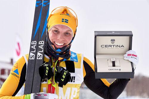 Lina Korsgren vant Visma Ski Classics sammenlagt for sesongen 2020/2021. Foto: Magnus Östh/Visma Ski Classics/NordicFocus.