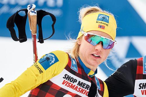 Emilie Fleten ble beste norske løper i Visma Ski Classics sammenlagt for sesongen 2020/2021. Foto: Magnus Östh/Visma Ski Classics/NordicFocus.