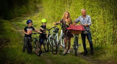 Langs Saltdalselva på sykkel