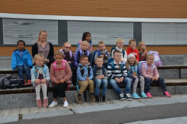 Første skoledag i første klasse på Bergerbakken skole
