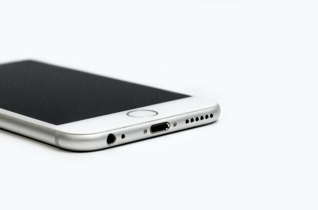 Bildet viser en mobiltelefon, smarttelefon.