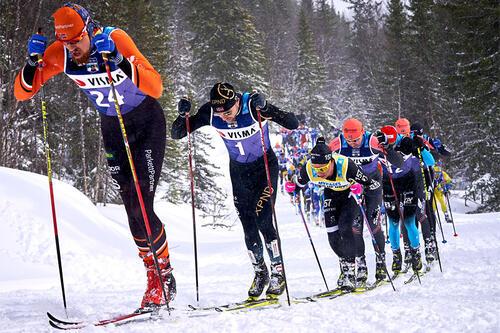 Hovedklynga i Tåssåsen Criterium 64 som inngikk i Ski Classics 2020/2021. Foto: Magnus Östh / Visma Ski Classics / Nordic Focus.