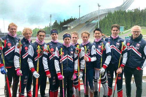 Utøvere i Team Bygdø, fra venstre: Marcus, Sander, Jani, Jakob, Alvar, Ådne, Petter, Petter, Herman og coach Sundby. Foto: Team Bygdø.