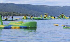 Bildet viser badeparken i Randsfjorden (foto: Randsfjordfestivalen)