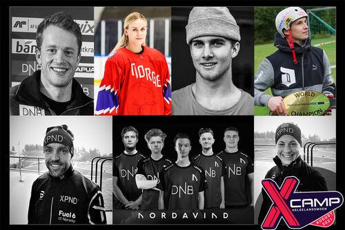Xcamp Helgelandsmoen har en rekke profiler, blant disse kjente skinavn som Astrid Uhrenholdt Jacobsen, Tord Asle Gjerdalen, Tarjei Bø og Eirik Brandsdal.