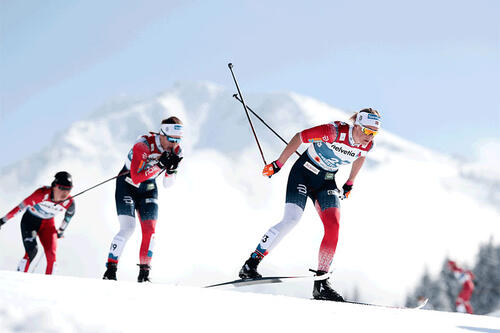 Fotoet er et illustrasjonsbilde fra VM med Anne Kjersti Kalvå i front av bildet og saken er ikke direkte relatert til henne eller andre i bildet. Foto: Modica/NordicFocus.