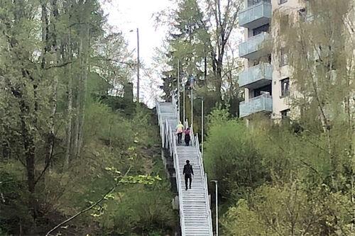 Skibakketrappa - Nydalsbakken. Foto: Sigmund Hov Moen.