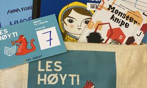 Hauan barnehage Les høyt - tøyveske med bøker