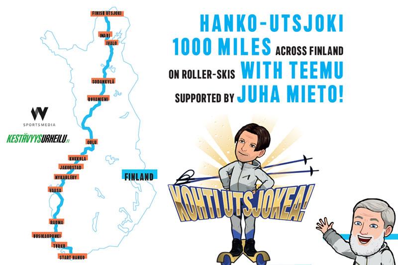 Finland på langs fra Hanko til Utsjoki står på planen for  Teemu Virtanen i juni 2021.