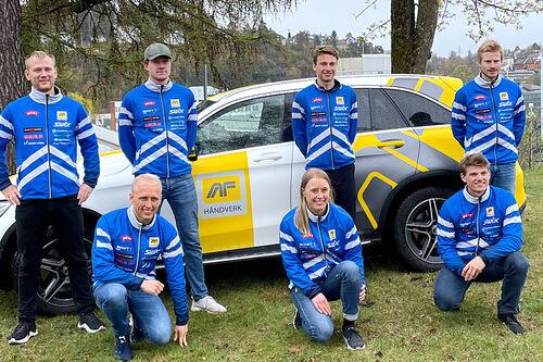 Lagbilde for Team AF Håndverk sesongen 2021/2022. Foto: Team AF Håndverk.