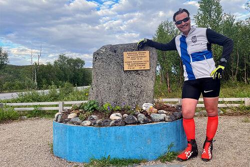 Teemu Virtanen har nådd Finlands nordligste punkt, Nuorgam, etter å ha gått landet på langs på 10 etapper.