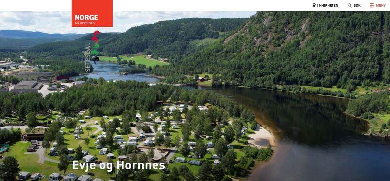 Skjermbilde av Visit Norway - Evje og Hornnes