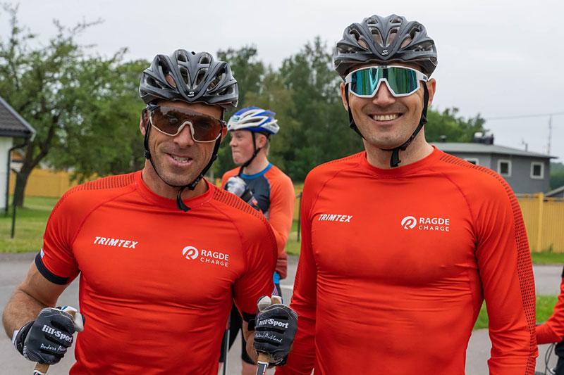 Anders Aukland og Andreas Nygaard fra Team Ragde. Foto: Børre E. Helgerud / Visma Ski Classics.