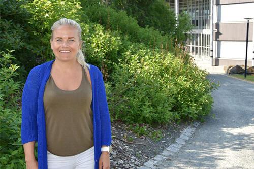 Line Dverseth Danielsen er leder for faggruppen kroppsøving, idrett og friluftsliv ved Fakultet for lærerutdanning og kunst- og kulturfag ved Nord universitet. Foto: Nina Kjeøy / Nord universitet.