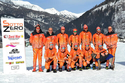 Langløpslaget SottoZero Trentino Zorzi Max. Teamfoto.