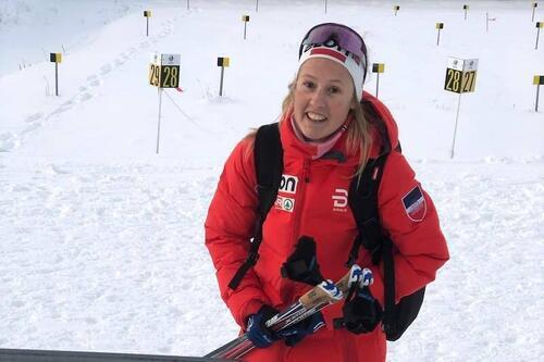 Karoline Simpson-Larsen åpnet fjorårssesongen med knallresultater i sesongåpningen på Beitostølen. Like etter var det over og ut for 2020-21. Foto: Team Elon Vest