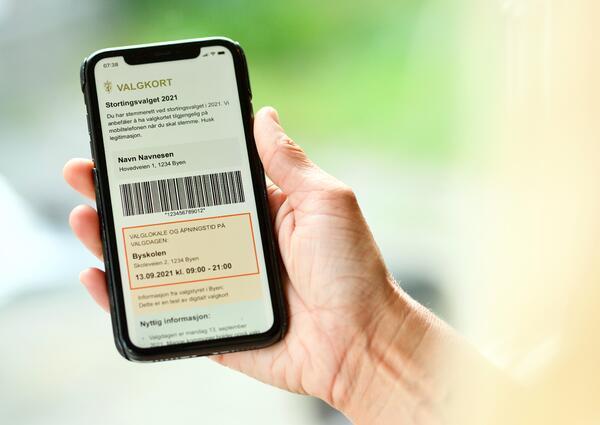 Digitalt valgkort