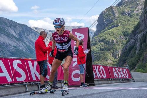 Therese Johaug vant Lysebotn Opp igjen. I oppvisningsstil. Igjen. Foto: Atle Mork