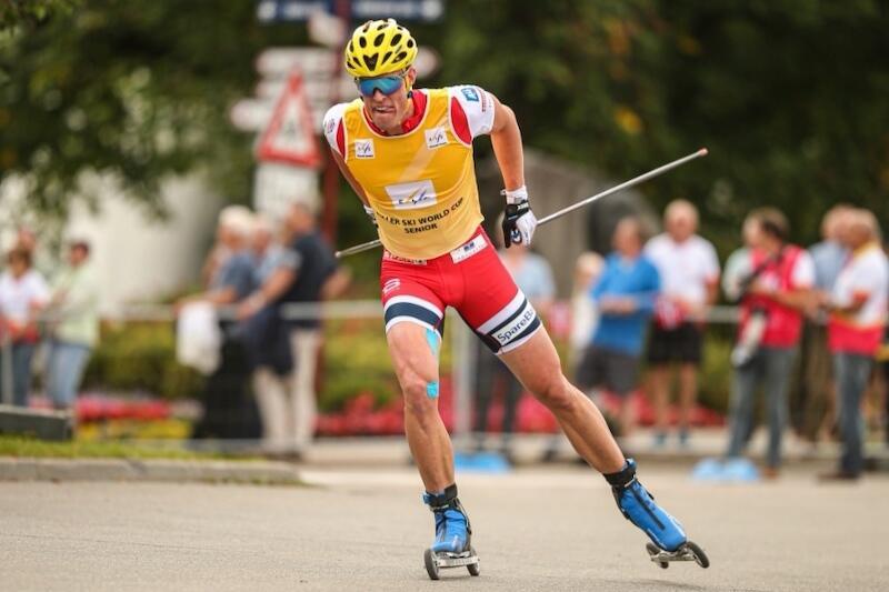 Ragnar Bragvin Andresen ble verdensmester i 200 meter rulleskisprint i 2019. Foto: Flavio Becchis