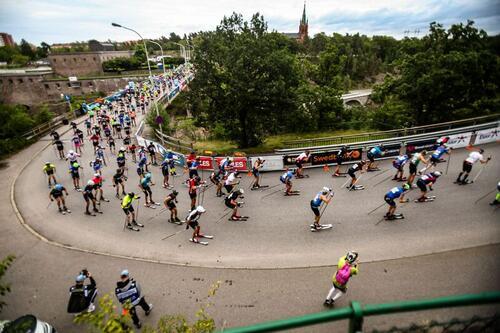 Verdens største rulleskirenn ble arrangert i Trollhättan i helgen. Foto: Trollhättan Action Week.
