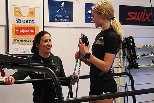 Marit Bjørgen lanserer nytt utviklingskonsept for jenter. Foto: Holmenkollen Treningslab