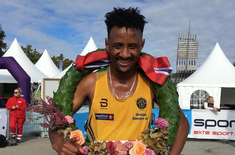 Senay Fissehatsion vant Birkebeinerløpet. Foto: Ingeborg Scheve