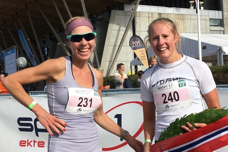 Karoline Simpson-Larsen vant Birkebeinerløpet foran Kristin Størmer Steira. Foto: Ingeborg Scheve
