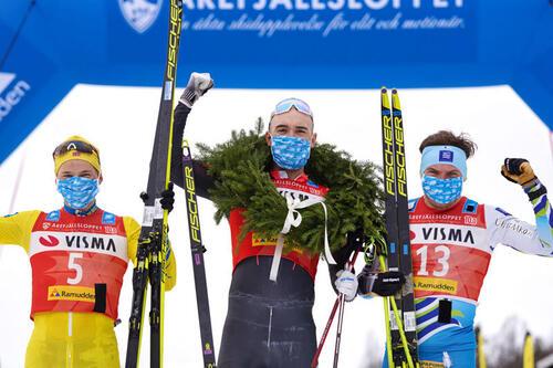 Andreas Nygaard vant Årefjällsloppet i mars. Til vinteren er det Marcialonga som er det store målet. Foto: Visma Ski Classics/Magnus Östh