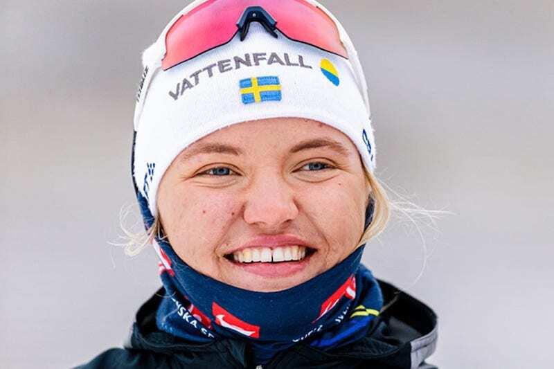 Linn Svahn opererte skulderen onsdag. Foto: Svenska Skidförbundet