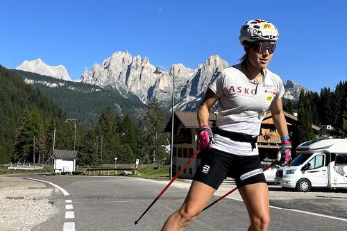 Ragnhild Haga under høydesamling i Italia i sommer, en viktig del av OL-oppkjøringen for 30-åringen som nå står utenfor landslaget. Foto: Privat