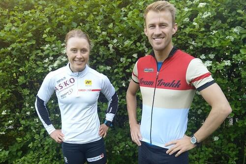 Ragnhild Haga og hennes nye trener Erik Bråten. Foto: Privat