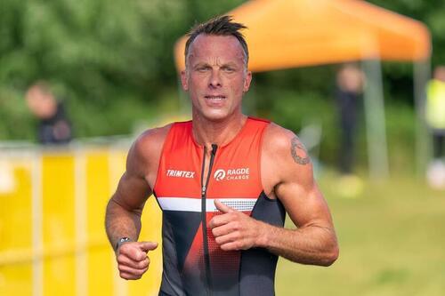 Anders Aukland under sommerens Oslo Triatlon.
