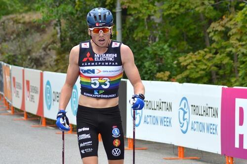 William Poromaa under 15 kilometer intervallstart i Trollhättan. Foto: Johan Trygg/Längd.se