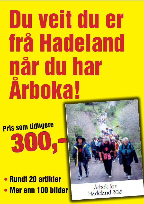 Bildet viser plakat for Årbok for Hadeland 2021