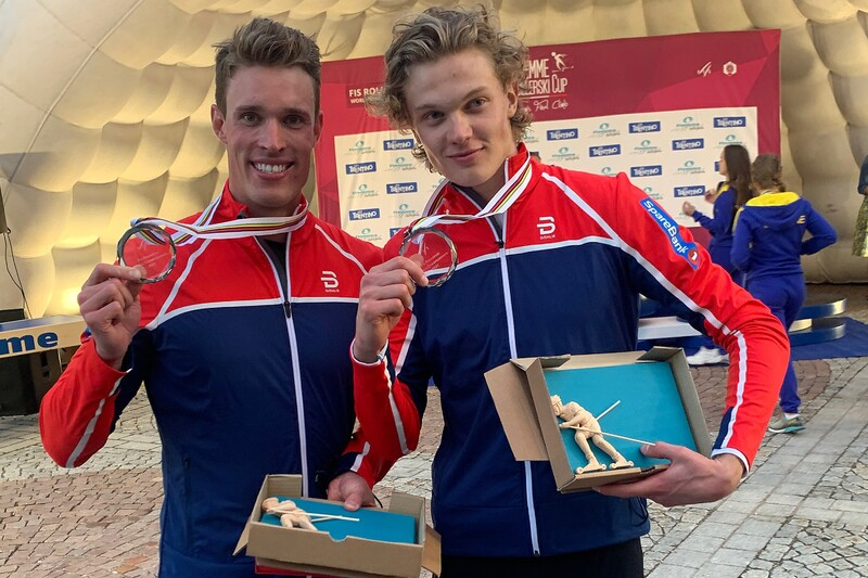 Sølvguttene Amund Korsæth og Ragnar Bragvin Andresen.