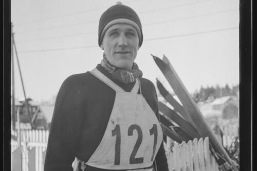 Gunnar Hermansen, Nydalen SK, 1940. Foto: Henriksen og Steen via Nasjonalbiblioteket.