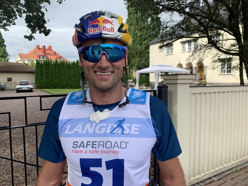 En godt fornøyd Petter etter målgang. Foto: Johan Trygg/Langd.se