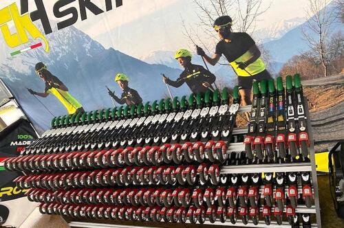 Den italienske rulleskiprodusenten CK4 Skiroll lanserte sine første rulleski i august og hadde ansvaret for å levere rulleski til samtlige øvelser under rulleski-VM i Val di Fiemme, som ble arrangert 16. til 19. september. Foto: CK4 Skiroll