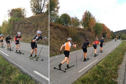 Tetgruppen på vei opp mot Ringkollen. Foto: Geir Nilsen