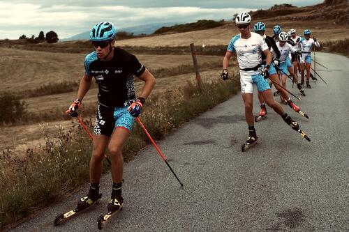 Team Norconsult på høydesamling i Font Romeu i Pyreneene forrige uke. Foto: Ola Kvisle