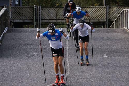 Stian Berg har vært først i løypa ofte i år, både på trening og konkurranser. Foto: Privat