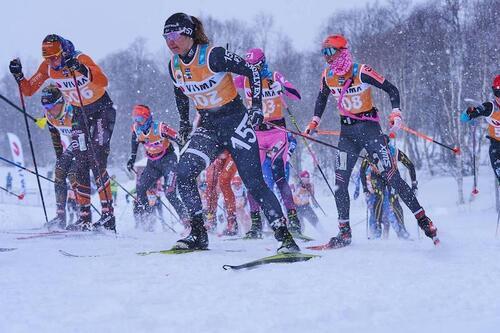 Britta Johansson Norgren (foran) har stått på meldepliktlista siden 2004. Foto: Visma Ski Classics /Magnus Östh/NordicFocus