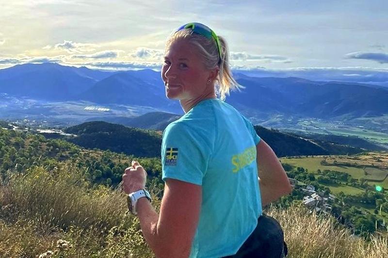 Maja Dahlqvist stortrives i høyden, her fra treningssamling i Font Romeu i september. Foto: Privat