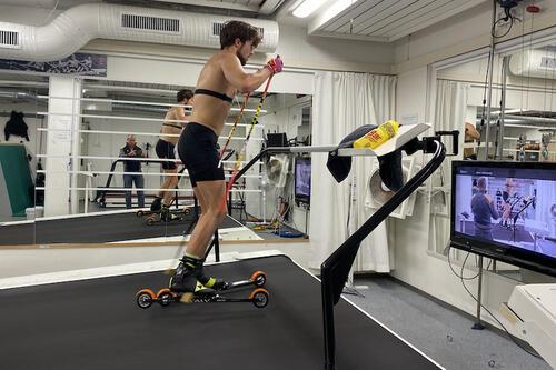 Håvard Moseby har fått trent opp mot 20 timer i uka i snitt gjennom skadeperioden og opptreningen etter tretthetsbruddet i bekkenet. Foto: Privat