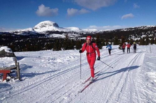 Valdres skimaraton arrangeres i samme omgivelser som det nå nedlagte Valdresmarsjen. Foto: Valdresmarsjen